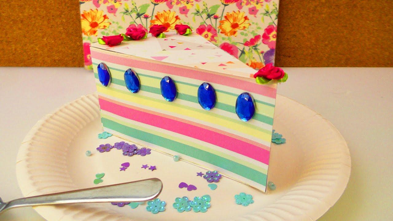 Wunderschönes Tortenstück Als Geschenk Box Aufbewahrung Für