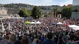 20.000 Menschen für Klimaschutz in Stuttgart