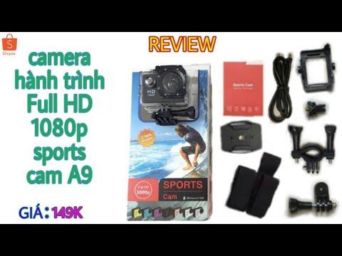 Review camera hành trình Full HD 1080p sports cam A9