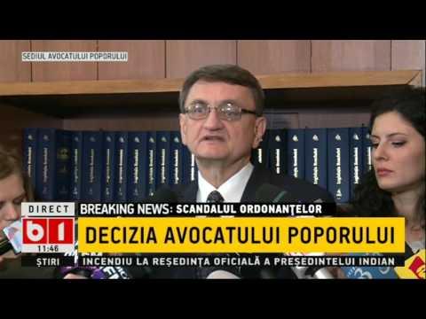 Avocatul Poporului atacă ordonanța Guvernului Grindeanu la Curtea Constituțională