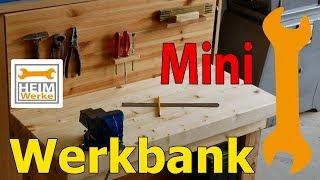Schöne Mini Werkbank für Kinder einfach selber bauen.