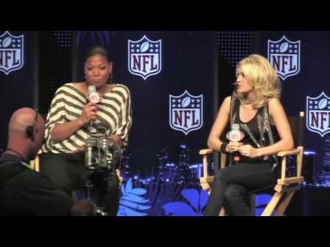 Carrie Underwood and Queen Latifah - Super Bowl 44 Predictions