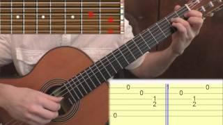 Аргентинская мелодия. Медленный показ с табами / Argentine melody [tabs]