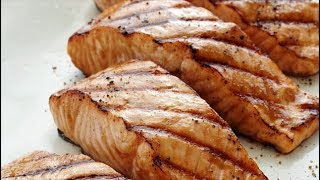 Grilled Salmon with Miso Orange Glaze