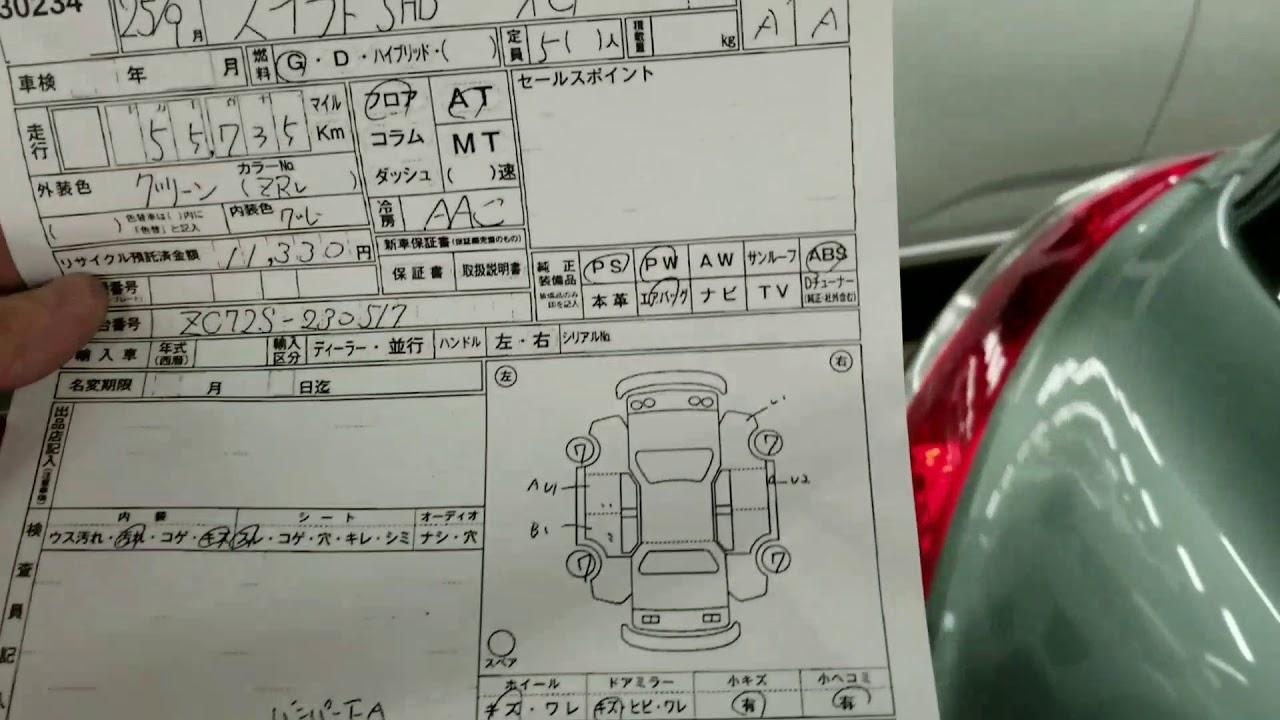 Japan Car Auction Sheet Markings A1 U1 B1 Smile Jv Youtube Diagram Exterior