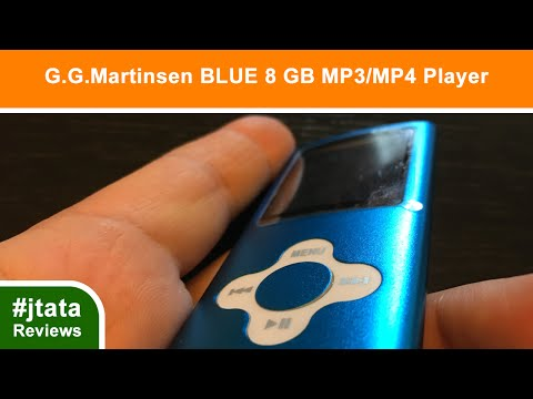 MP3 Player, BLUE 8 GB  from G.G. Martinsen