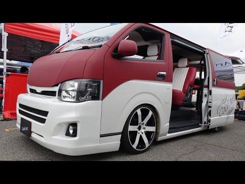 Customized Toyota Hiace Vans >> (4K)COOL ART TOYOTA HIACE modified 2015 ハイエース200系カスタム - スーパーカーニバル2015 - YouTube