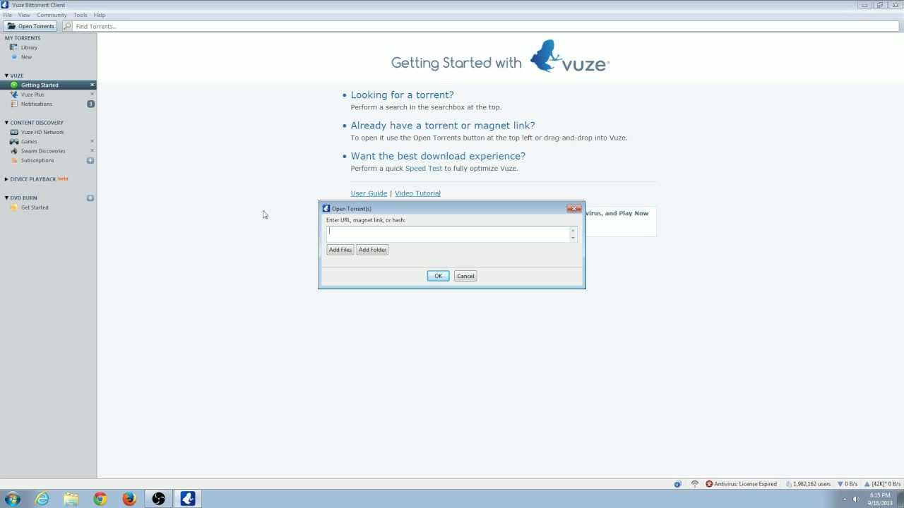How to Open torrents with Vuze Bittorrent Client 5 1