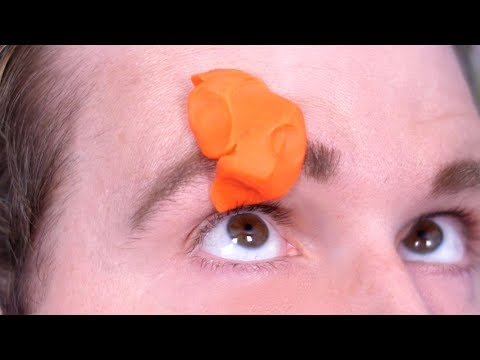 PLAY DOH STUCK IN EYEBROW!
