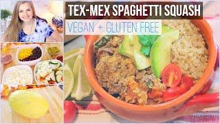 Vegan Dinner Idea: Tex- Mex Spaghetti Squash