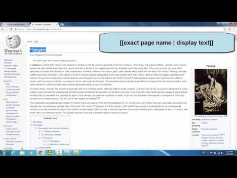 Wikipedia: Editing Basics (Source Editor)