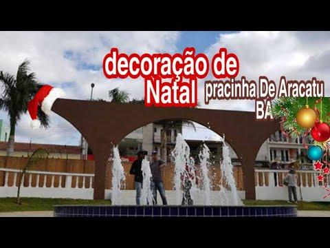 Decoração de Natal pracinha de Aracatu BA