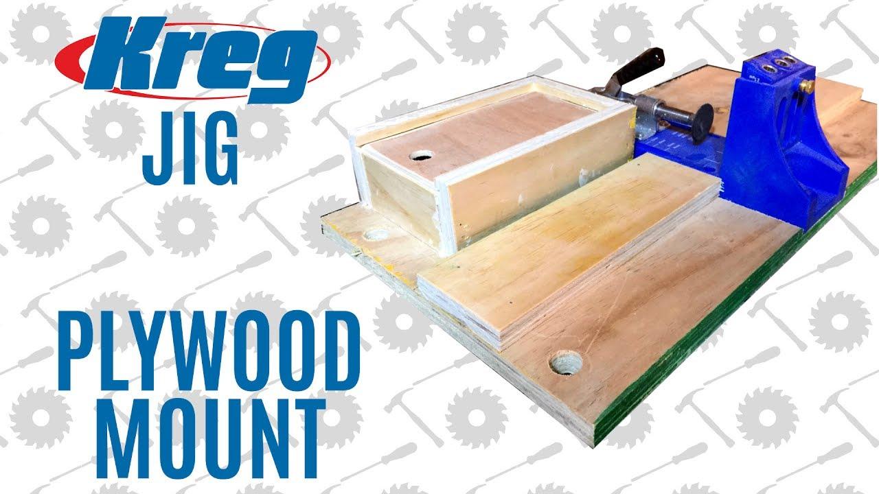 Kreg Jig Plywood Mount With Storage Youtube