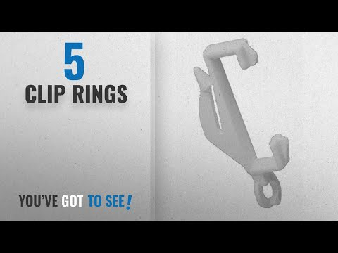 Top 10 Clip Rings [2018]: 40 Curtain Track Glider Hooks With Sturdy Grip Fit Integra Decorail Rail