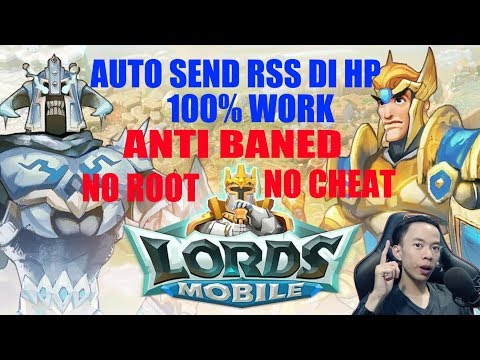 AUTO SEND RSS DI HP 100% WORK | LORDS MOBILE INDONESIA