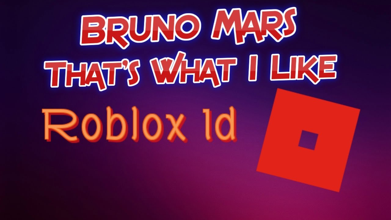 bruno mars roblox id