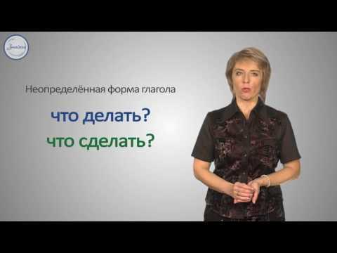 Уроки русского Образование форм времени от неопределённой формы глагола