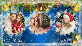 Слайд-шоу новогоднее зимнее Видеоролик Новый год Петуха 2017