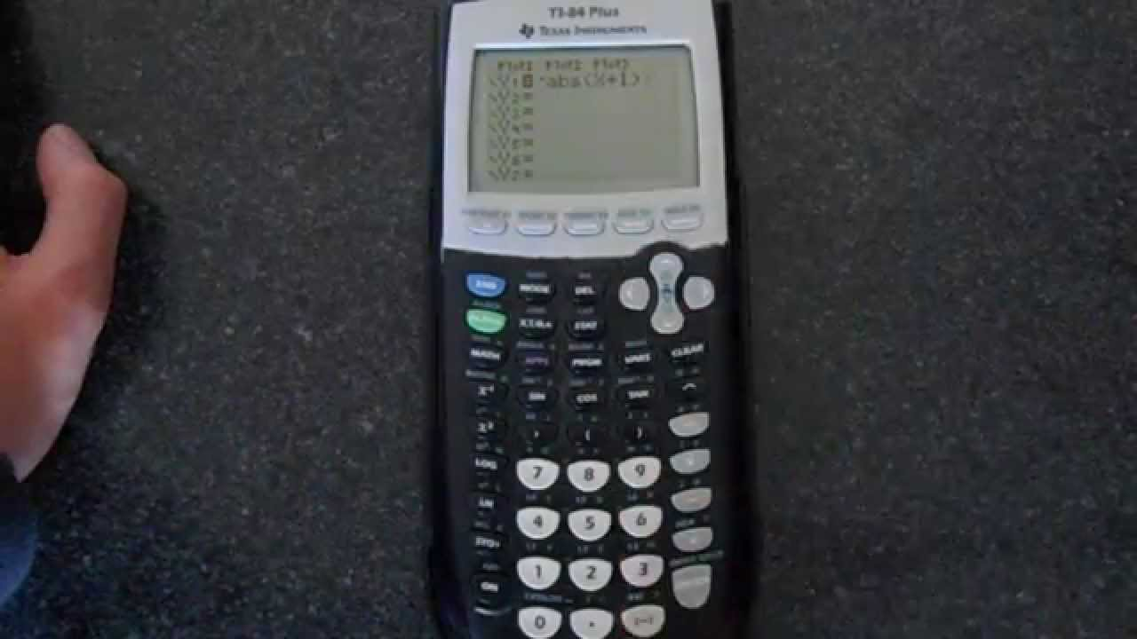 How to graph an absolute value on a ti-84 plus youtube.