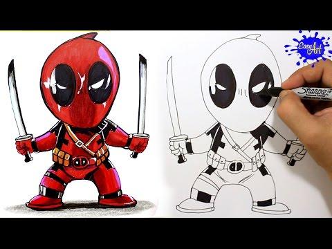 How To Draw Deadpool Step By Step Como Dibujar A Deadpool Paso A