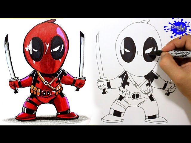 How To Draw Deadpool Step By Step Como Dibujar A Deadpool Paso A Paso Easy Art Youtube