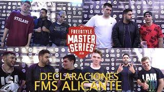 SKONE vs BTA - ARKANO vs WALLS - ZASKO vs FORCE... DECLARACIONES FMS ALICANTE