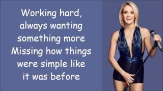 Carrie Underwood ~ Little Girl Don't Grow Up Too Fast (Lyrics)