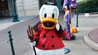 Devil Donald Duck Special Extra Magic Time Meet & Greet at Disneyland Paris Halloween Festival 2018