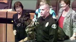 Anaheim City Council honors K9 Bruno