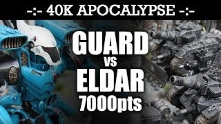 apocalypse imperial guard vs eldar 40k battle report shock and awe 6th edition 7000pts