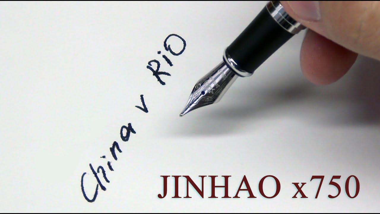 Посылки из Китая! Перьевая ручка JINHAO x750. С Алиэкспресс!