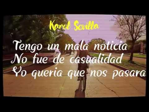 Nada fue un error -Karol Sevilla- letra