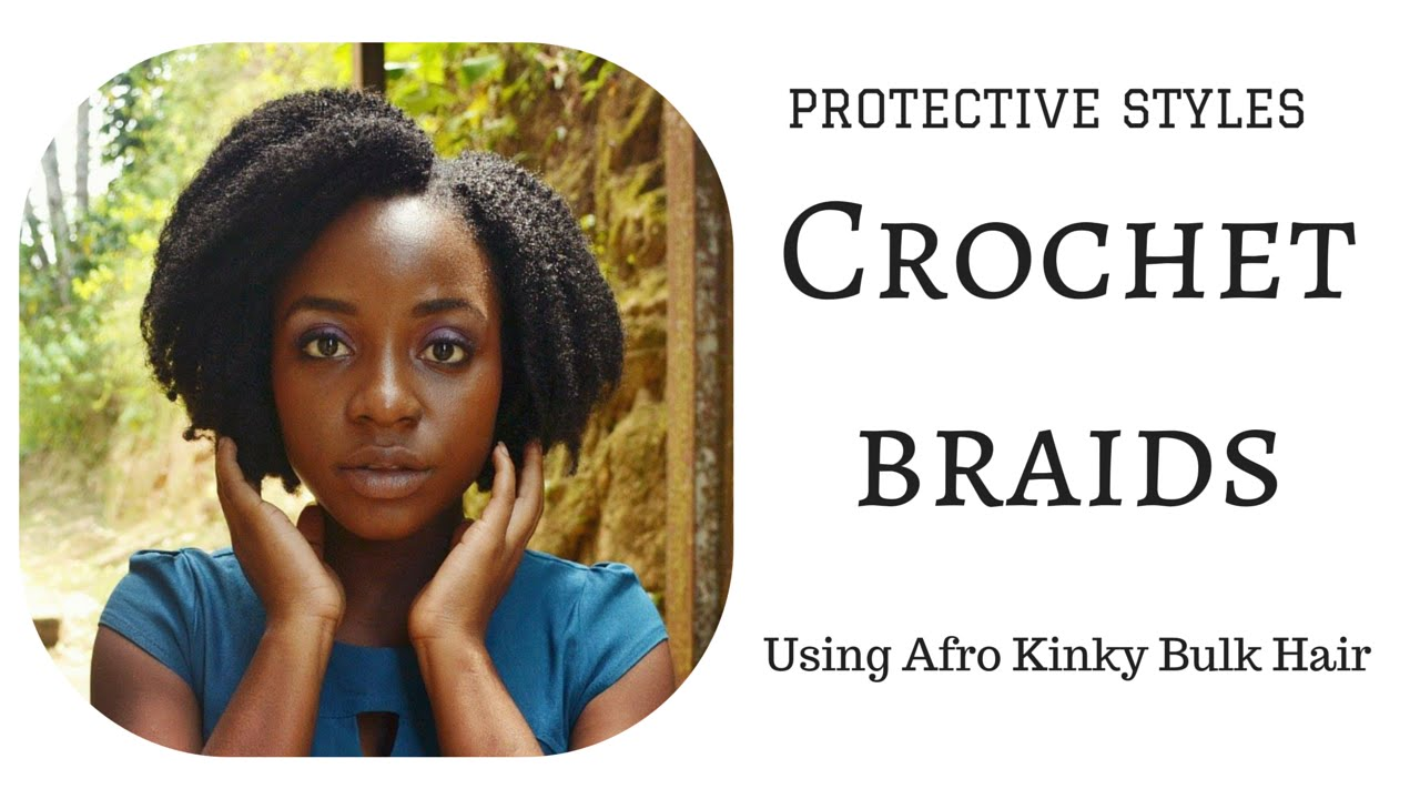Crochet Afro : CROCHET BRAIDS: AFRO KINKY BULK HAIR - YouTube