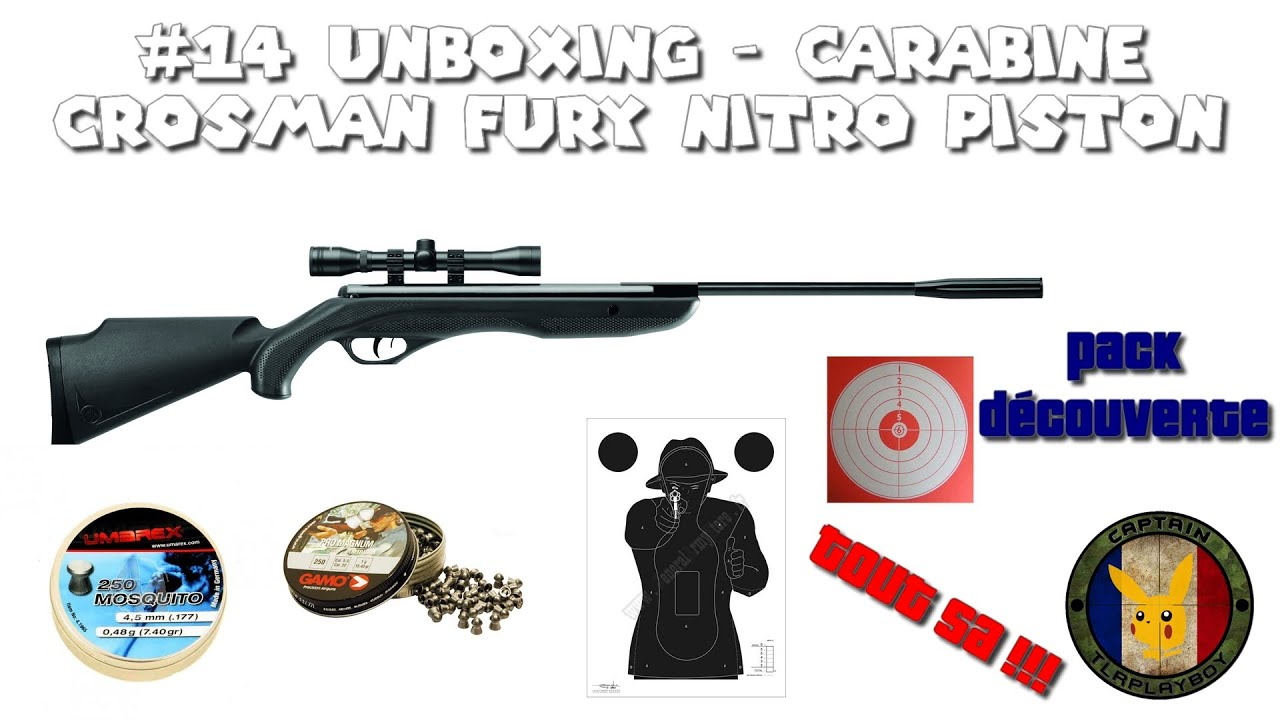 16 Unboxing Carabine Crosman Fury Nitro Piston Pack Découverte