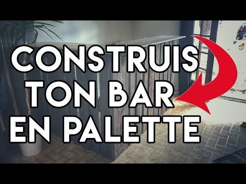 diy tuto bar en palette pallet bar youtube. Black Bedroom Furniture Sets. Home Design Ideas