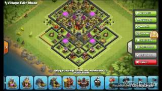 Clash of Clans(CoC) - Townhall 10 (TH10) HybridBase [AntiValks] + REPLAY