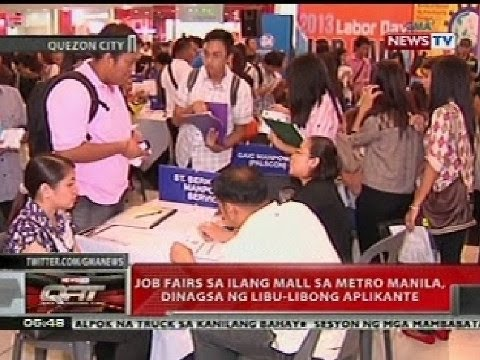 QRT: Job fair sa ilang mall sa Metro Manila, dinagsa ng libu-libong aplikante
