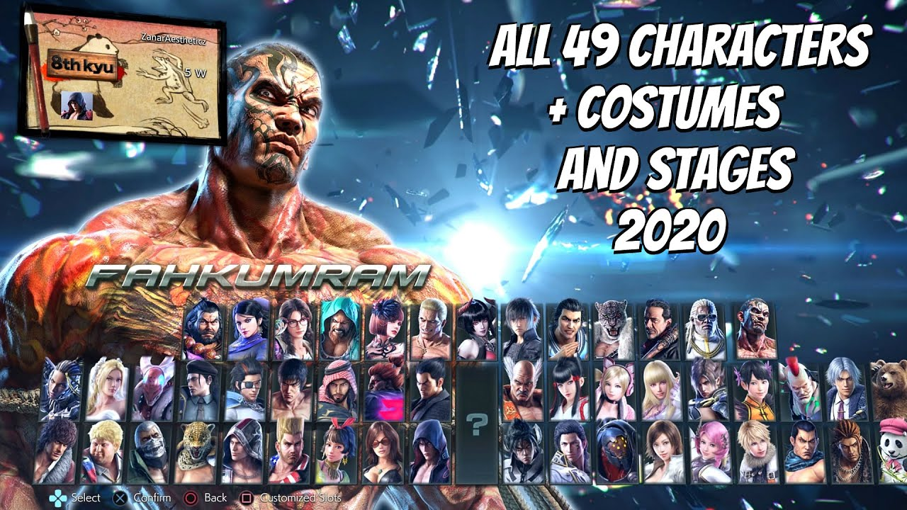 Tekken 7 All 49 Characters Costumes Stages 2020 All Dlc