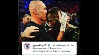 TYSON FURY BREAKS SILENCE ABOUT DEONTAY WILDER WITH A RESPECTFUL MESSAGE