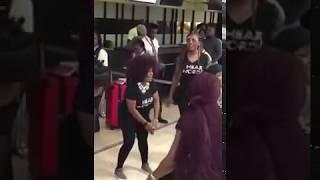 Nigerian Women Singing and  Dancing inside MM2 Local  Airport
