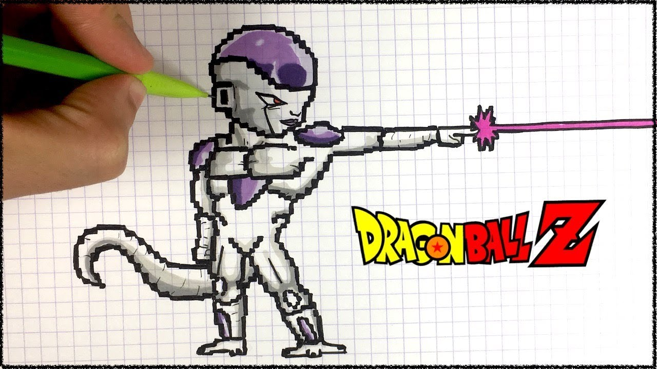 Draw Freezer Pixel Art Dbz