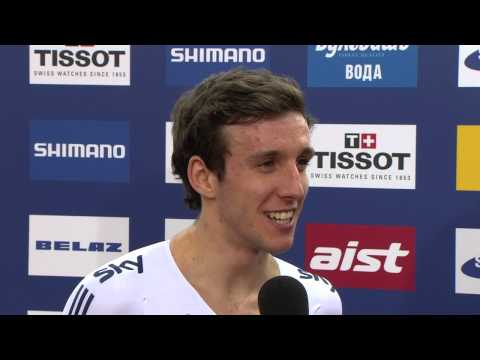 Simon Yates - Interview - Men's Point Race - 2013 UCI World Track Championships, Minsk