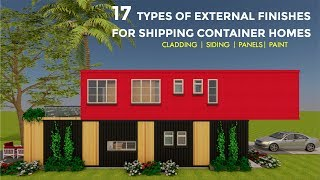 Exterior Cladding and Siding Finishes for Shipping Container Homes 2018 by SHELTERMODE