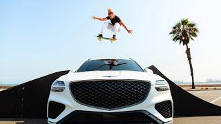 homepage tile video photo for Skateboard Tricks! Genesis GV70 Shutter Speed 3.0 Ep. 2 | MotorTrend