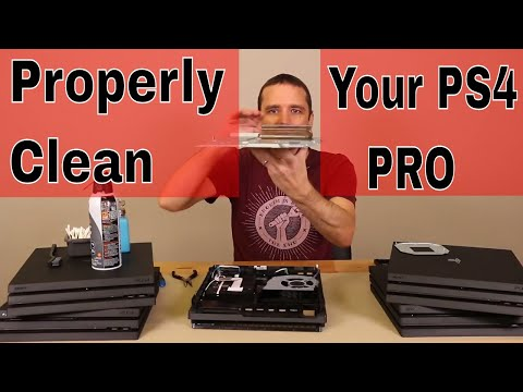 PS4 Pro Proper Cleaning - Vents, Fan and Heatsink Cleaning Tips