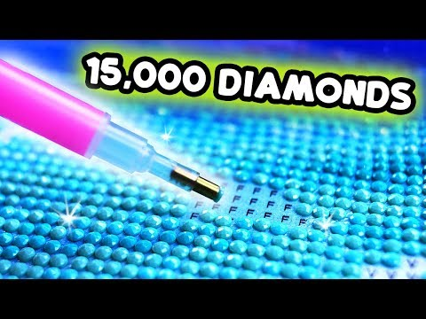 PAINTING WITH 15,000 DIAMONDS FOR OVER 24 HOURS
