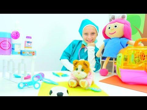 Çizgi film oyuncak #Smarta ile veteriner oyunu izle 🐱! Kız #çocukvideoları ve oyunları