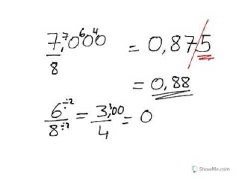 Year 7 year 8 how to turn fraction into a decimal or