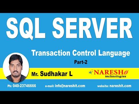 Transaction Control Language In SQL Server Part 2 | MSSQL Training