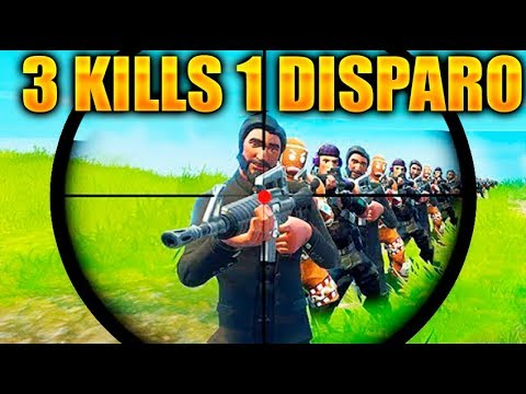 3 KILLS EN SOLO UN DISPARO! IMPOSIBLE !! FORTNITE MOMENTOS DIARIOS DIVERTIDOS Y FAILS BATTLE ROYALE